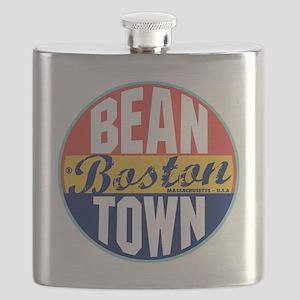 Boston Vintage Label Flask