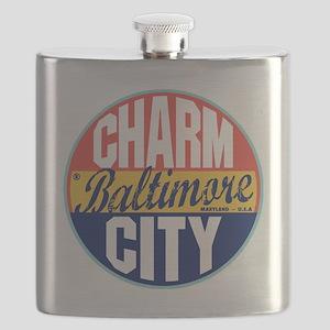 Baltimore Vintage Label Flask