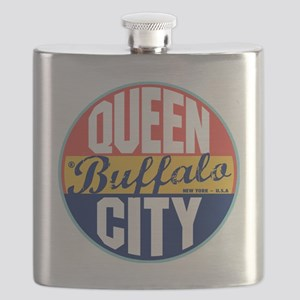 Buffalo Vintage Label Flask