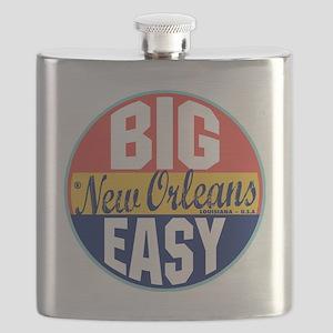 New Orleans Vintage Label Flask