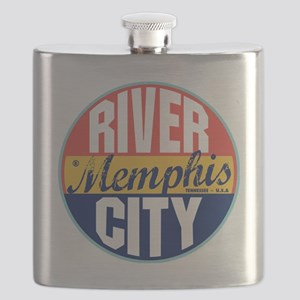Memphis Vintage Label Flask