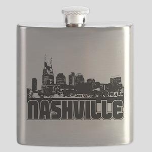 Nashville Skyline Flask