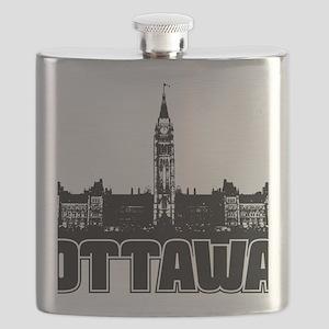 Ottawa Skyline Flask