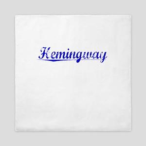 Hemingway, Blue, Aged Queen Duvet