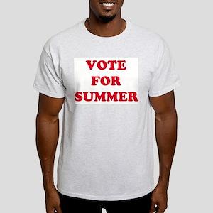 VOTE FOR SUMMER Ash Grey T-Shirt
