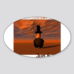 Deathshooter Oval Sticker