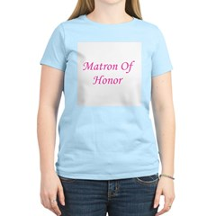 Matron of Honor Women's Pink T-Shirt