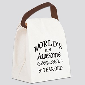 Awesome Birthday Canvas Lunch Bag