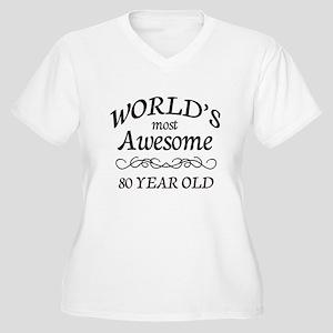 Awesome Birthday Women's Plus Size V-Neck T-Shirt