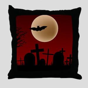 BLOODY NIGHT Throw Pillow