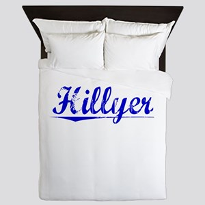 Hillyer, Blue, Aged Queen Duvet