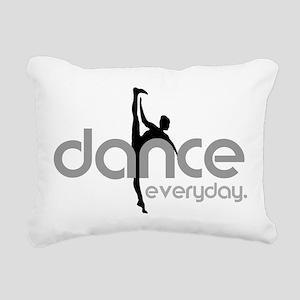dance everyday Rectangular Canvas Pillow