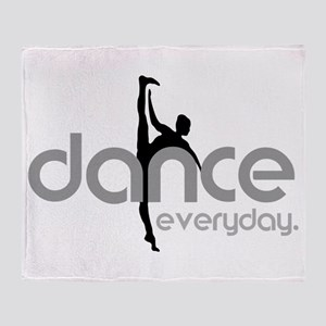 dance everyday Throw Blanket