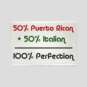 Italian & Puerto Rican Rectangle Magnet