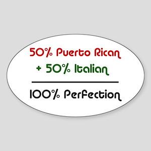 Italian & Puerto Rican Oval Sticker