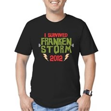 I Survived Frankenstorm Men's Fitted T-Shirt (dark