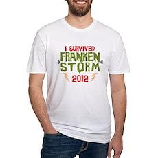 I Survived Frankenstorm Fitted T-Shirt