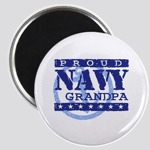 Proud Navy Grandpa Magnet