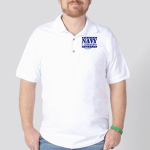 Proud Navy Grandpa Golf Shirt