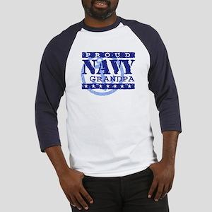 Proud Navy Grandpa Baseball Jersey