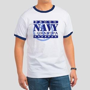 Proud Navy Grandpa Ringer T