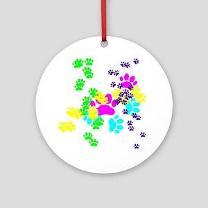 Pawprints Ornament (Round)