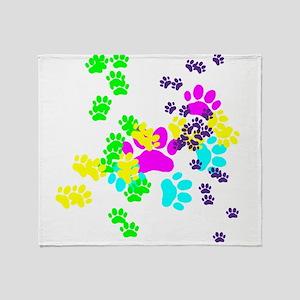 Pawprints Throw Blanket