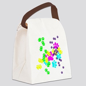 Pawprints Canvas Lunch Bag