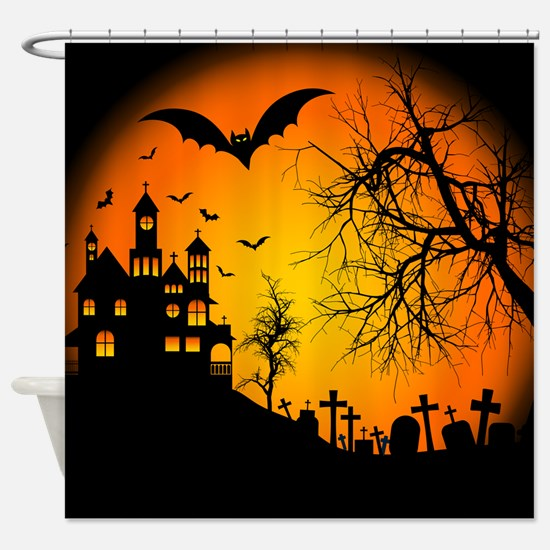 HOUSE ON THE HILL Shower Curtain
