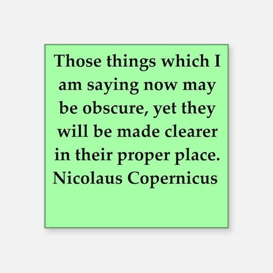 "copernicus11.png Square Sticker 3"" x 3"""
