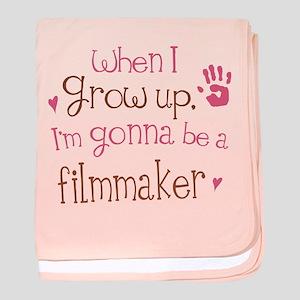 Kids Future Filmmaker baby blanket