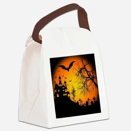 HOUSE ON THE HILL Canvas Lunch Bag