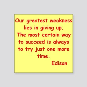 "edison12 Square Sticker 3"" x 3"""