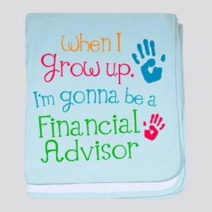 Future Financial Advisor baby blanket