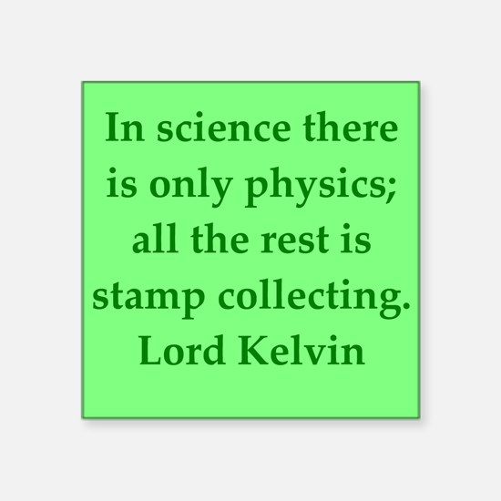 "kelvin3.png Square Sticker 3"" x 3"""