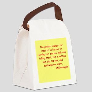 michel3 Canvas Lunch Bag