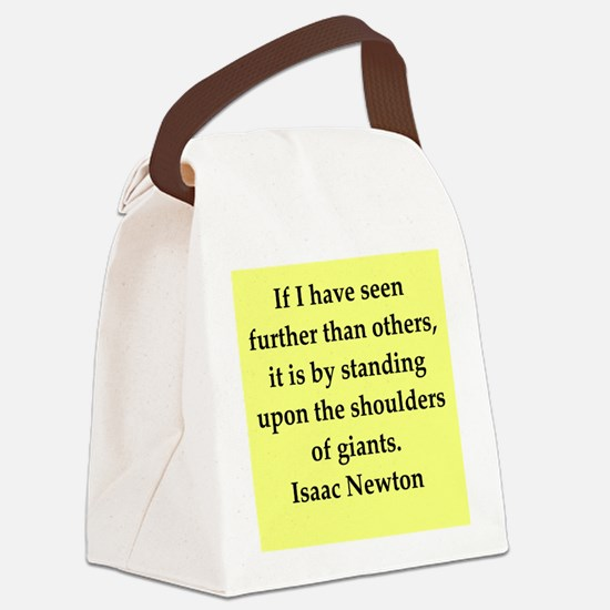 newton6.png Canvas Lunch Bag