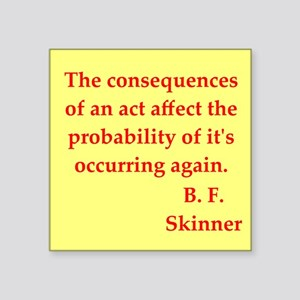 "skinner4 Square Sticker 3"" x 3"""