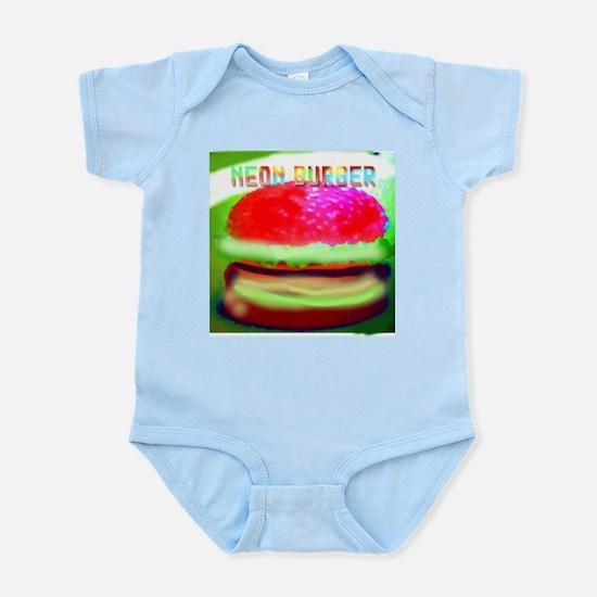 neon burger Infant Creeper