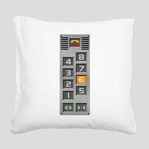 elevator Square Canvas Pillow