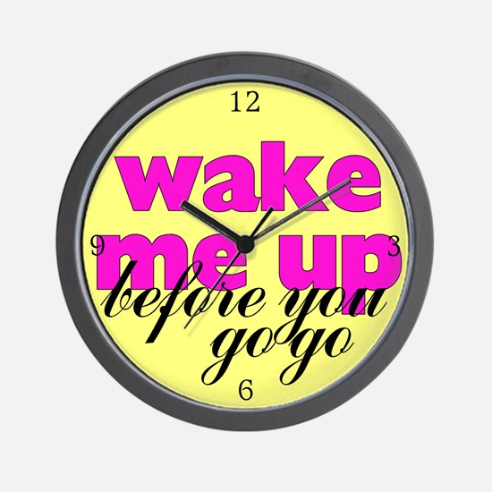 Wake Me Up! Retro Wall Clock