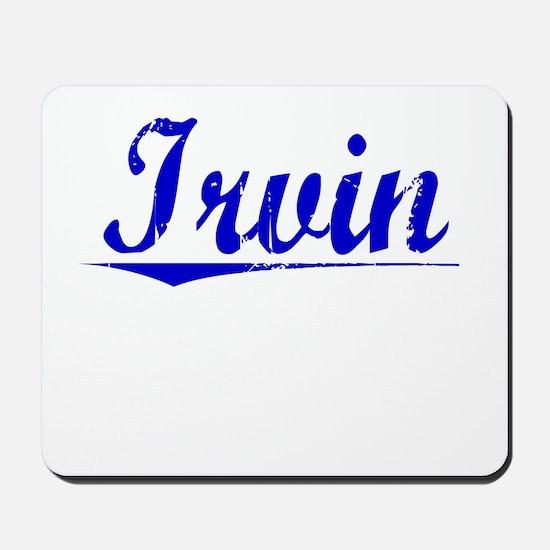 Irvin, Blue, Aged Mousepad