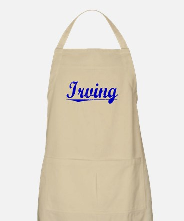 Irving, Blue, Aged Apron