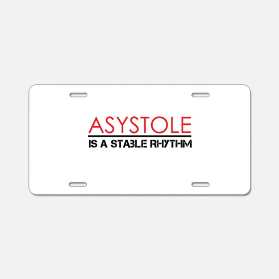 Asystole 3 Aluminum License Plate