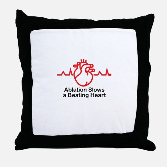 Ablation Slows A Beating Heart ™ 02 Throw Pillow