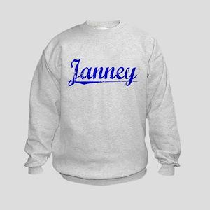Janney, Blue, Aged Kids Sweatshirt
