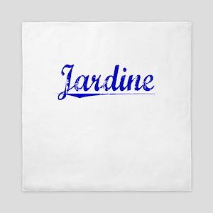Jardine, Blue, Aged Queen Duvet