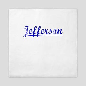 Jefferson, Blue, Aged Queen Duvet