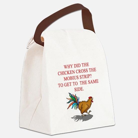 mobius strip joke Canvas Lunch Bag