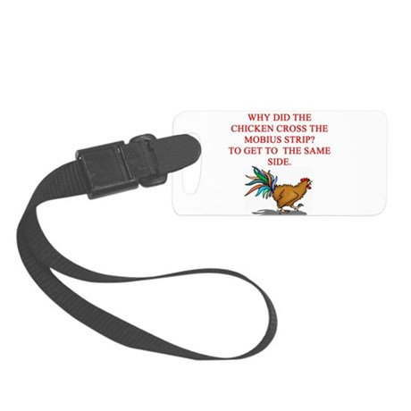 mobius strip joke Small Luggage Tag